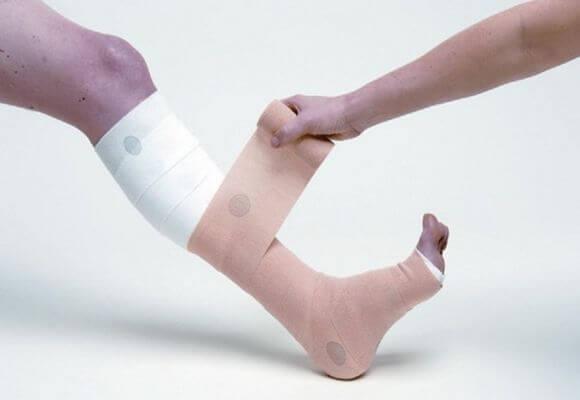 бинтование ноги
