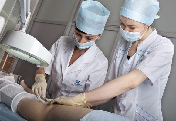 обработка после операции на венах ног