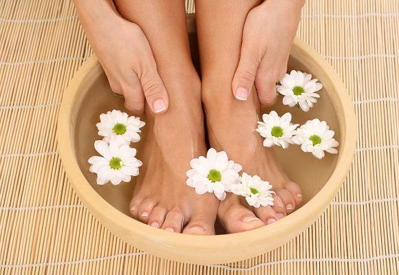 ванночка для ног с ромашкой