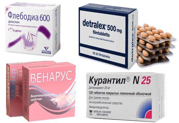 Таблетки от варикоза вен на ногах